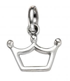 Princess Crown Silver Pendant with chain